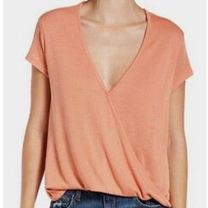 Free People Hoffman Surplice Top Small